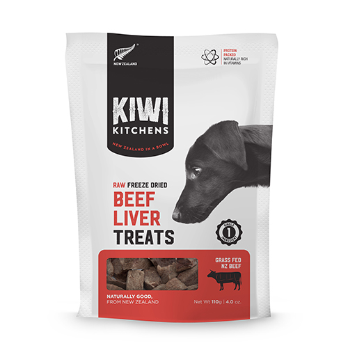 Kiwi Kitchens freeze-dried beef liver treats