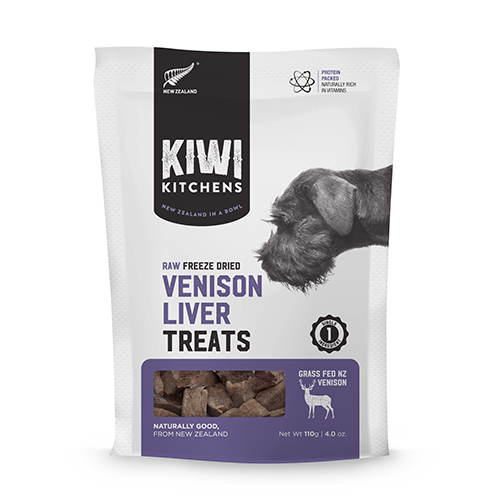 Kiwi Kitchens venison liver treats for dogs and cats